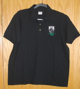 Men's Gildan Cotton Black Polos