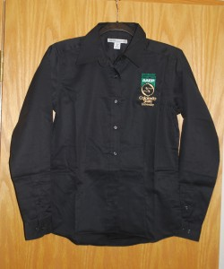 Women's Port Authority Black Button Up